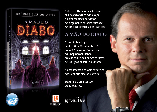 Convite+Digital Sessão De Lançamento De Novo Livro De José Rodrigues Dos Santos Amanhã