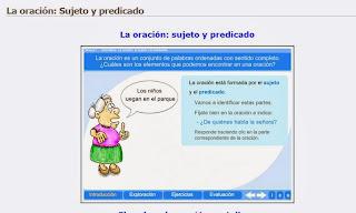 http://nuestroblogde5primaria.wordpress.com/lengua/03-armas-curiosas-de-los-animales/la-oracion-sujeto-y-predicado/