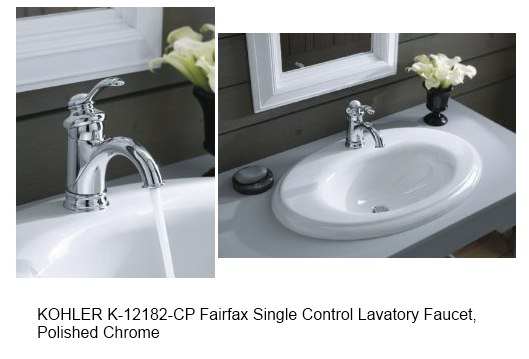 KOHLER K-12182-CP Fairfax Single Control Lavatory Faucet, Polished ...