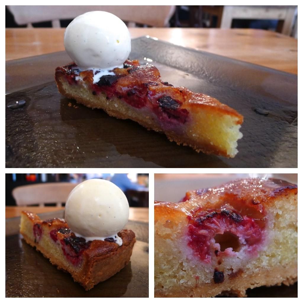 Raspberry & almond tart, vanilla ice cream – a classic tart is a ...