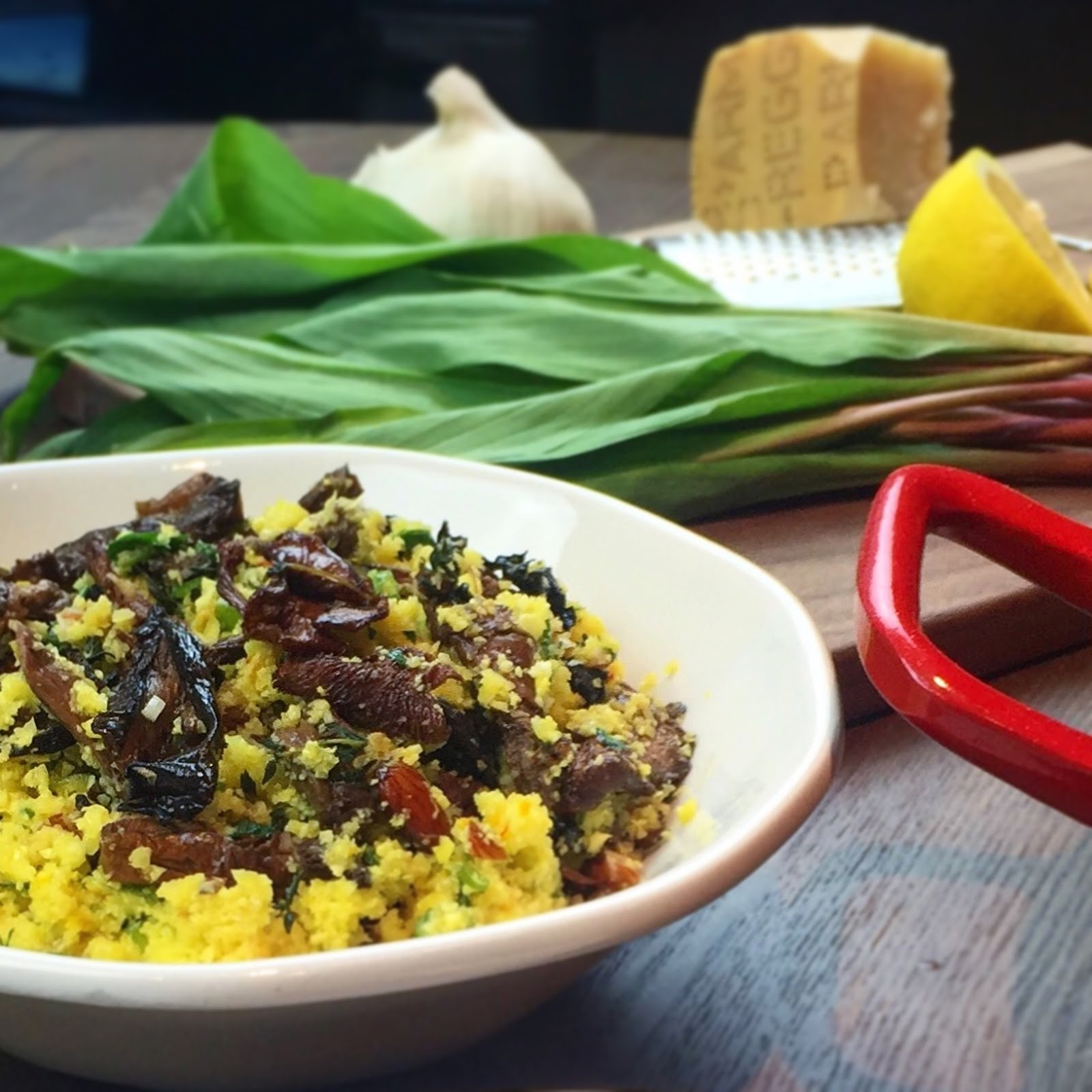 Saffron & Morel Cauliflower Couscous