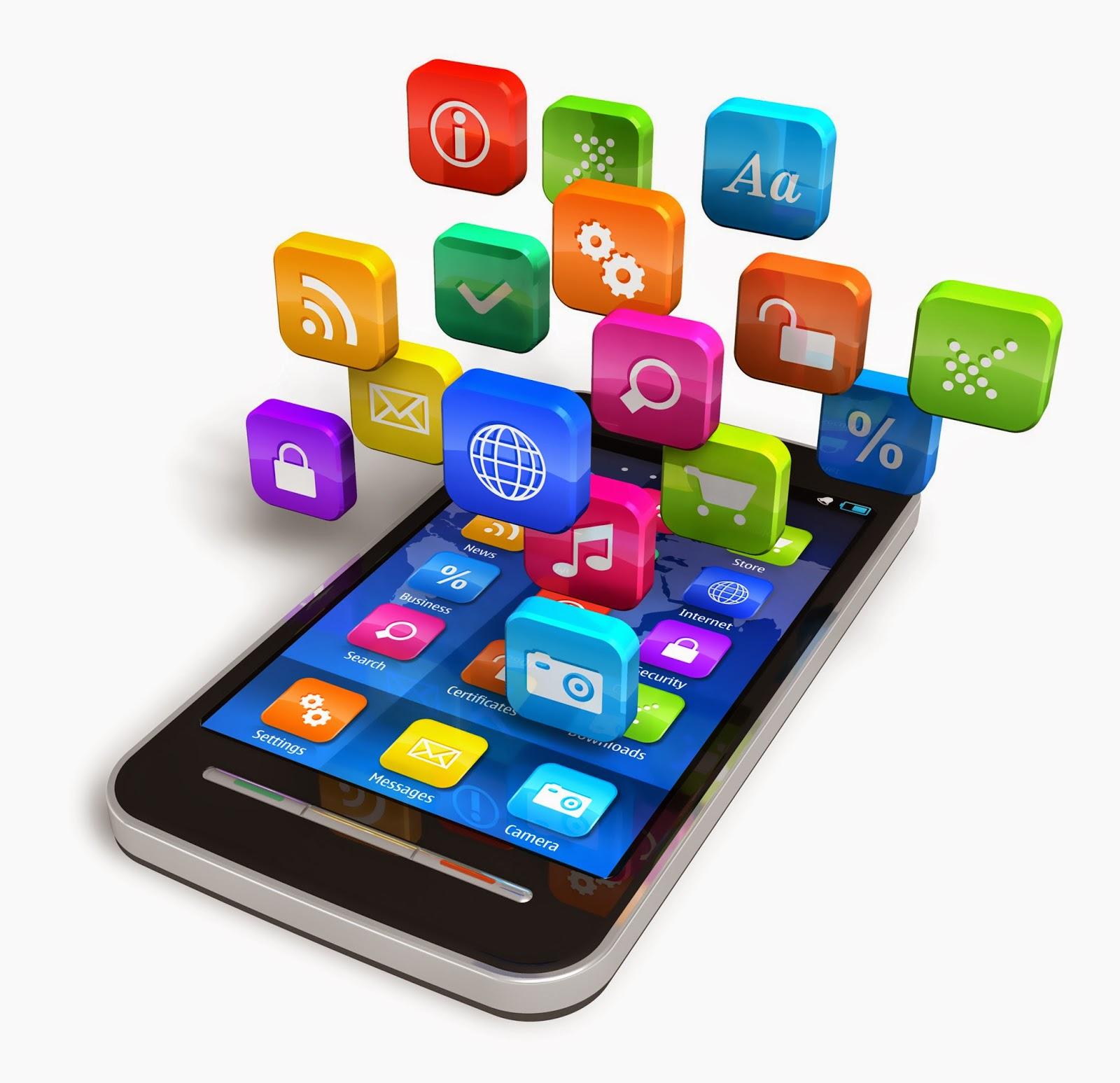 Imagen de un Smartphone y Apps