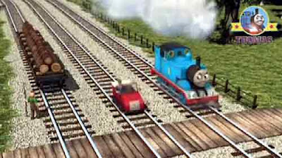 Visit Toby the train tram whistling woods logging station Winston Thomas the train engine friends