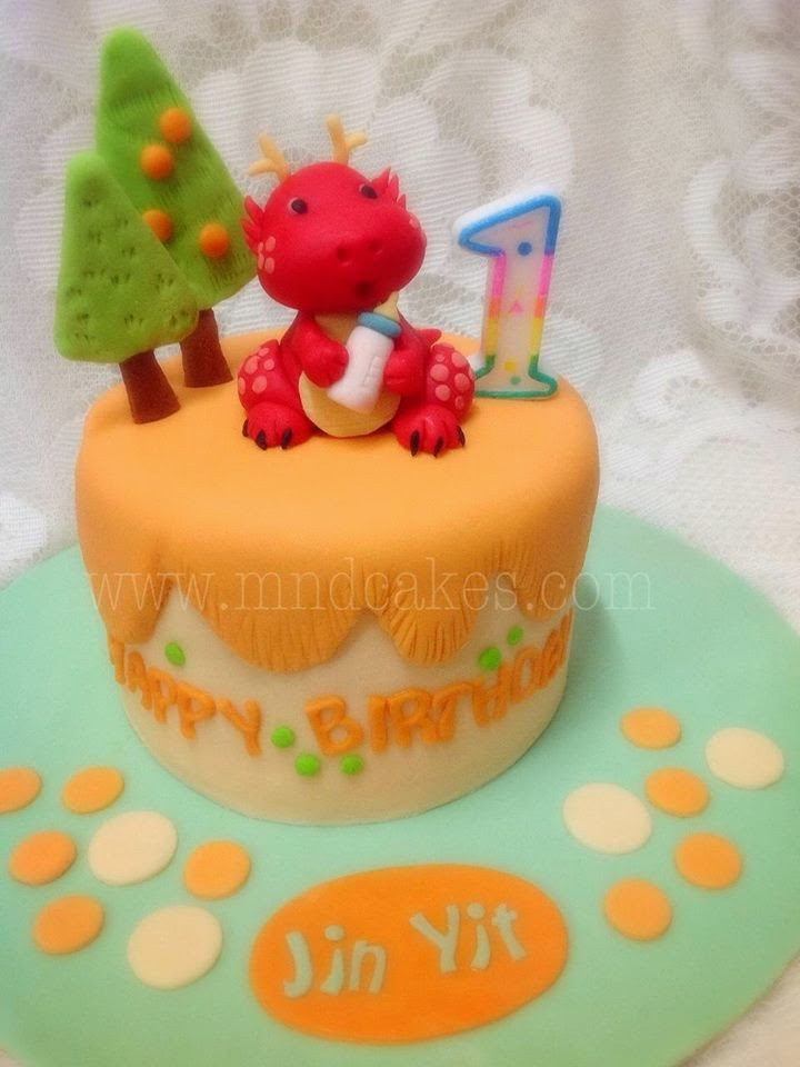 Mom And Daughter Cakes Dragon Themed Children Birthday Cakes