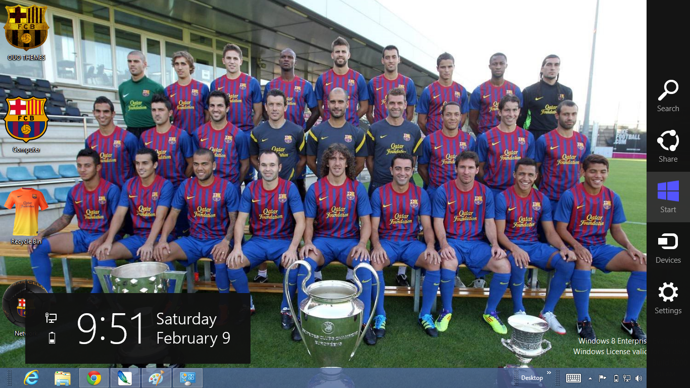 Barcelona Fc 2013 Theme For Windows 8 13 July 2013