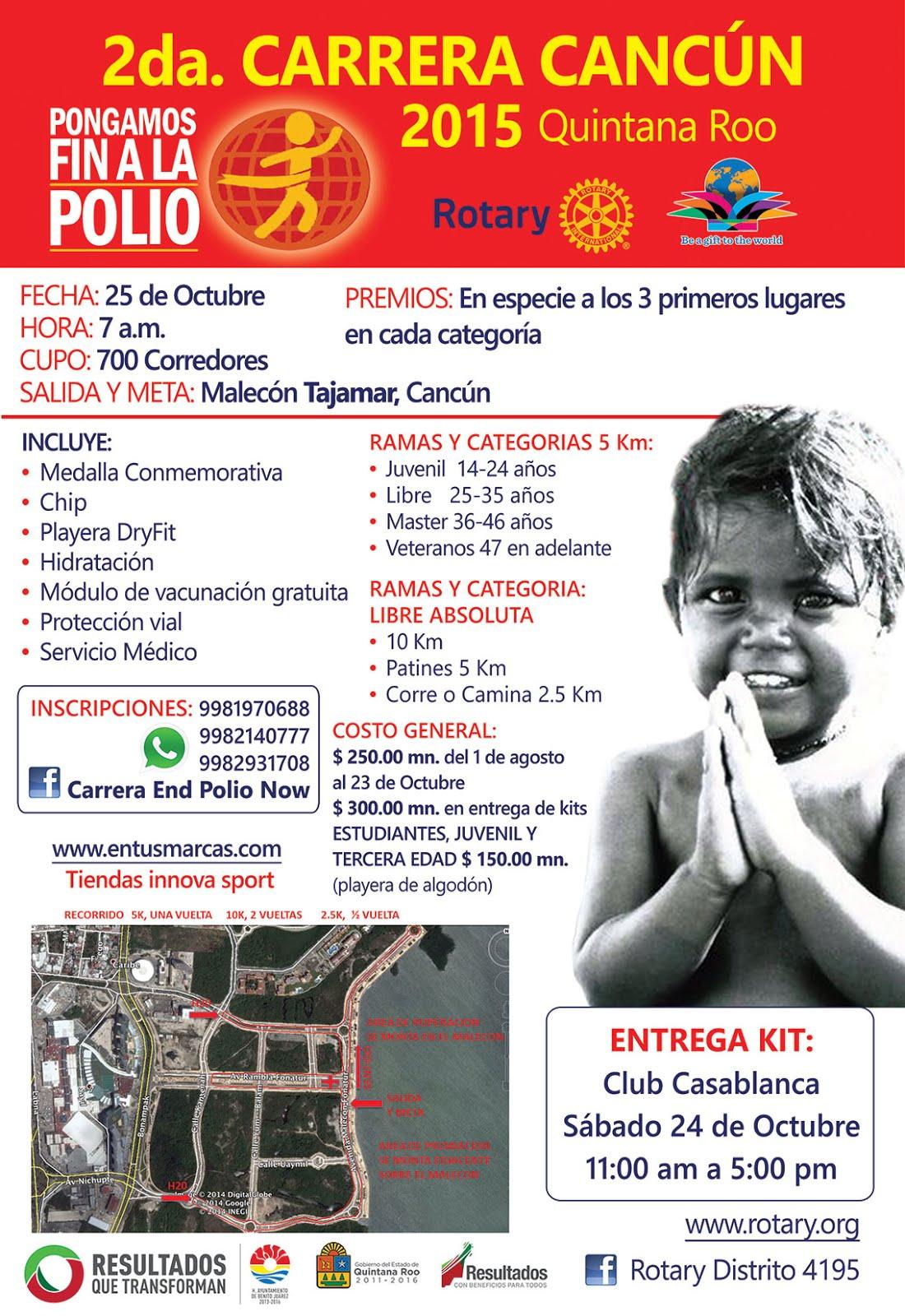 2 da carrera Pongamos fin a la polio