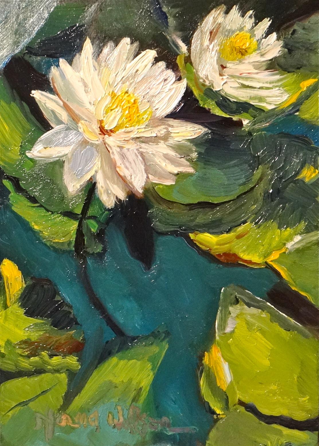 Norma wilson art lovely lotus floral landscape painting art lovely lotus floral landscape painting art izmirmasajfo