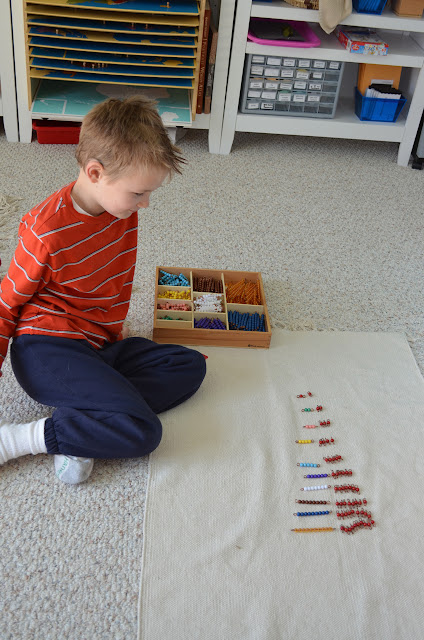 Montessori Multiplication Bead Bars:  Table of Ones
