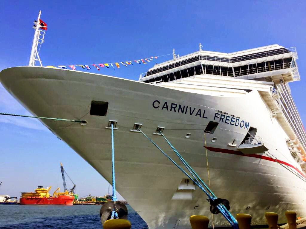 Carnival Freedom  First Time Docked In Galveston