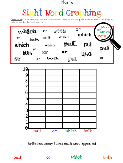 worksheets are These sight packets graphing in: also  available word
