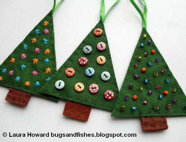 Bugs and Fishes by Lupin: How To: Sew Easy Felt Christmas Tree ...