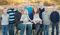 Brent & Becca Hartzell, Isaiah, James, Noah, Malachi, Elijah, Asher, Sheva, Hannah