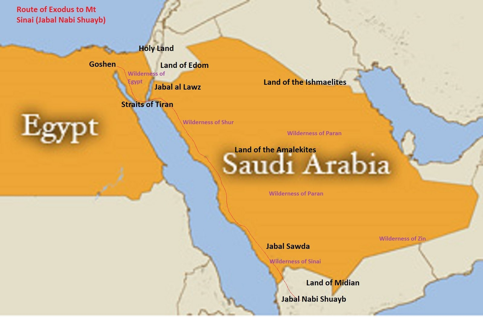 alternative genhist where was mt sinai? jabal nabi shuayb? Egypt Saudi Arabia Map Egypt Saudi Arabia Map #9 egypt saudi arabia bridge