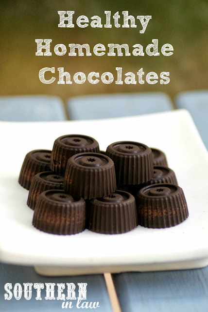 Healthy Homemade Chocolate Recipe with Coconut Oil - Clean eating friendly, refined sugar free, coconut sugar, gluten free