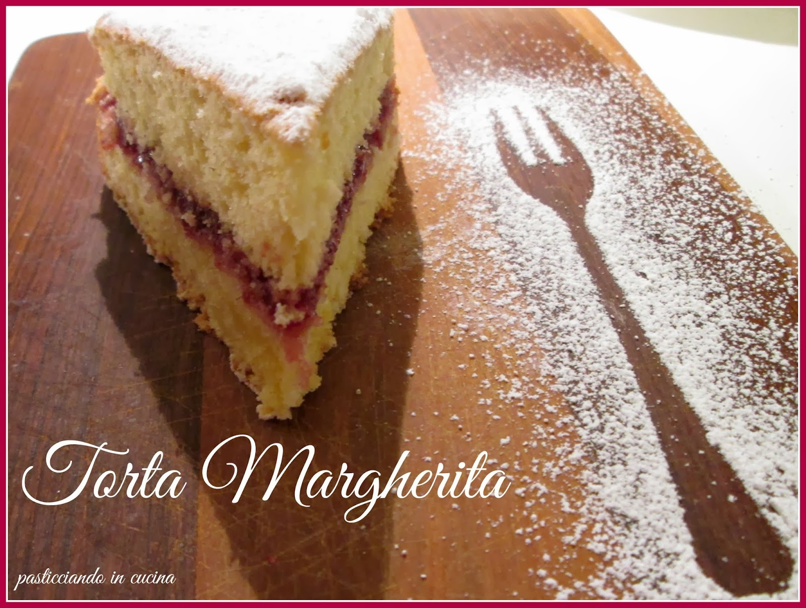 torta margherita con ripieno di marmellata