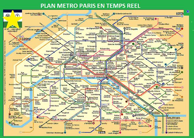 lignes de métro à Paris - Plan interactif