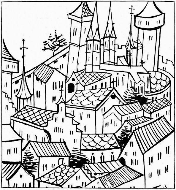 Dibujos para colorear. Maestra de Infantil y Primaria.: Pueblos y ...