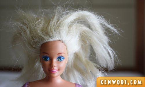 barbie hair