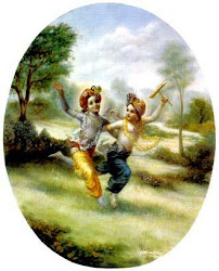 Krishna und Balarama