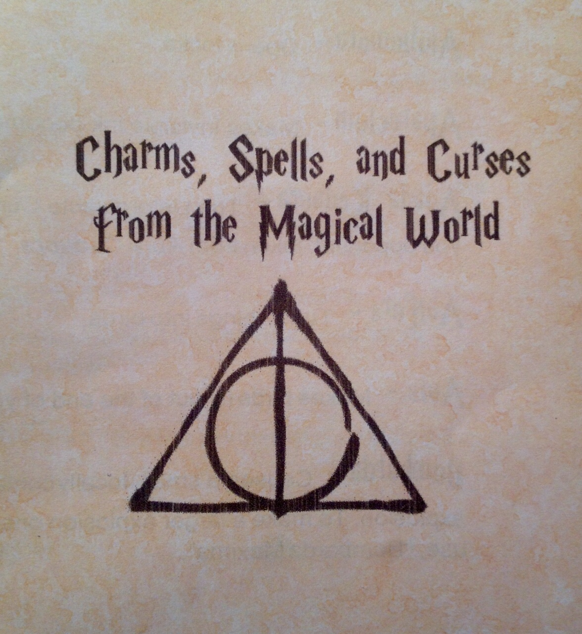 Harry potter birthday party ideas spell book party favor the cover with deathly hallows symbol biocorpaavc Images