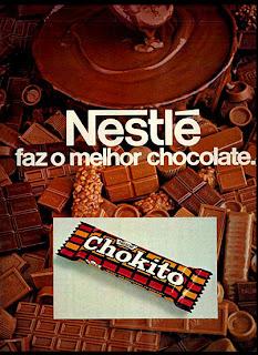 propaganda Chokito da Nestle - 1978; Nestle; os anos 70; propaganda na década de 70; Brazil in the 70s, história anos 70; Oswaldo Hernandez;