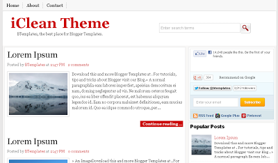 iclean blogger templates