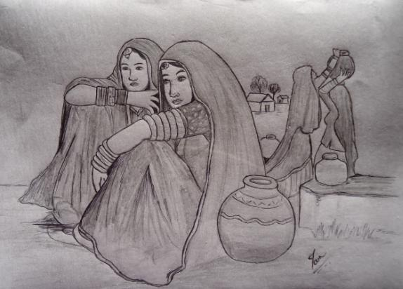 Pencil Sketches Rajasthan