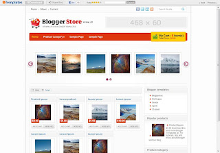 Blogger Store Blog Template