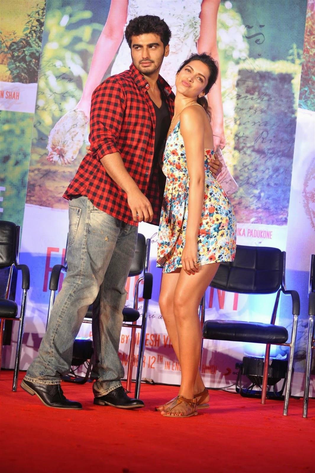 Deepika Padukone & Arjun Kapoor at Finding Fanny Music Launch