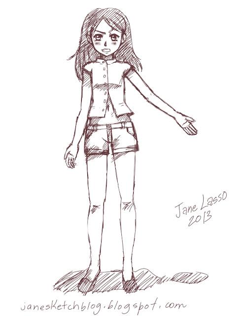 Sketch de niña con Illust Studio