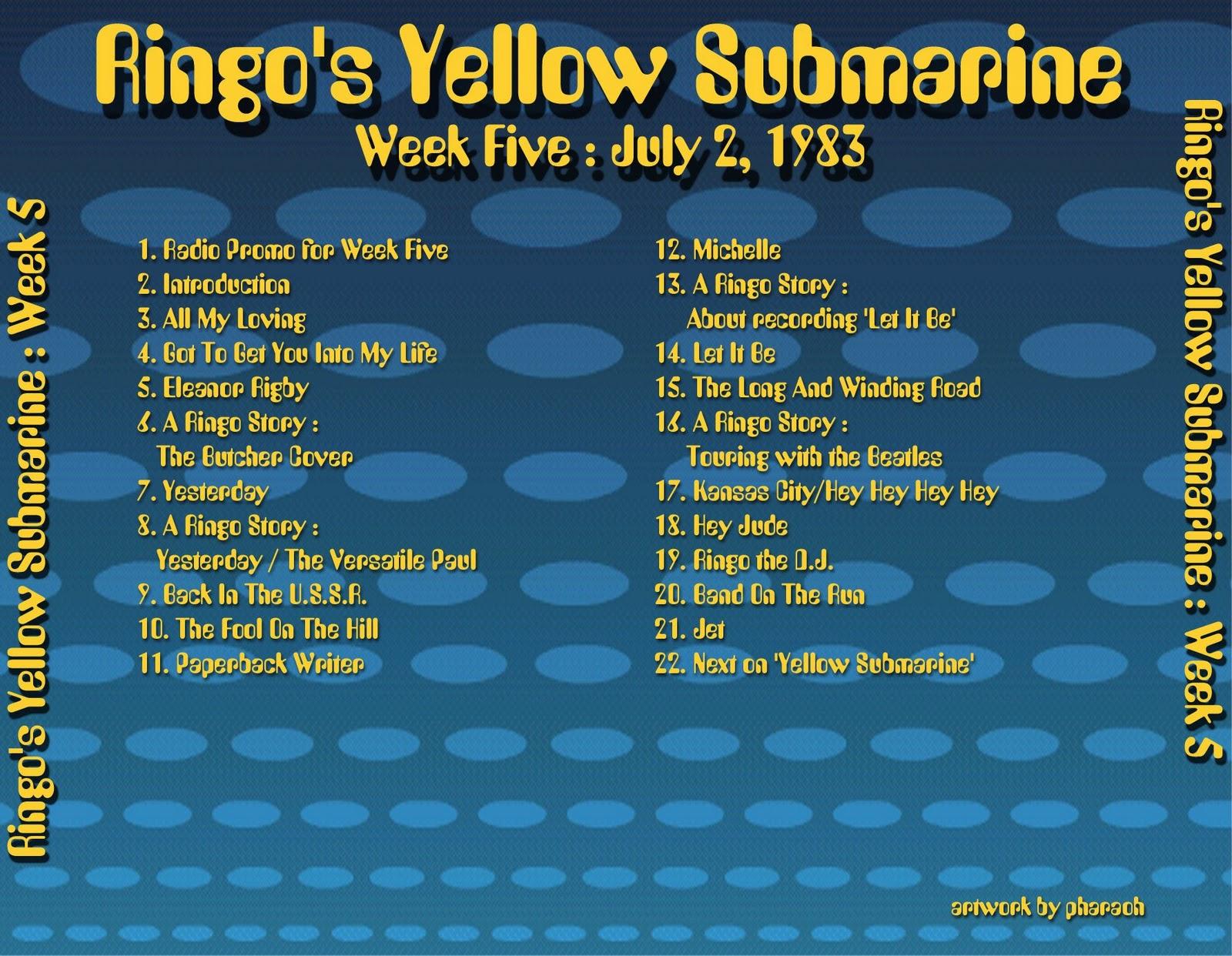 Beatles Radio Waves: 1983 07 02 Ringo's Yellow Submarine 05 #B99A12 1600 1242
