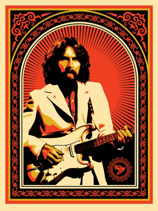 Shepard Fairey George Harrison Friendship And Support New Print Available August 8th