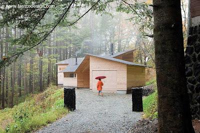 Cabaña de madera diseño moderno en Japón