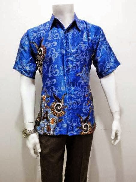 Desain Model Atasan Batik Kemeja Pria Trendy