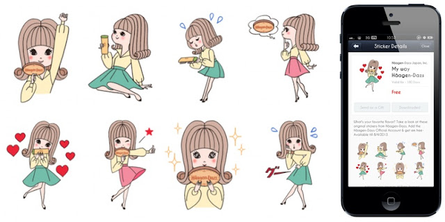 My way Haagen-Dazs line sticker