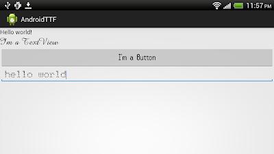 Display custom TrueType Font (TTF)
