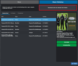 FM14 Steam Workshop download add ons