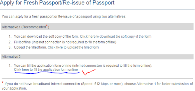 step2 Apply for Fresh Passport\Re-issue Passport image