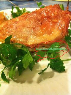 fırında pilavlı tavuk göğsü dolması,resimli tavuk gogsu dolmasi tarifi