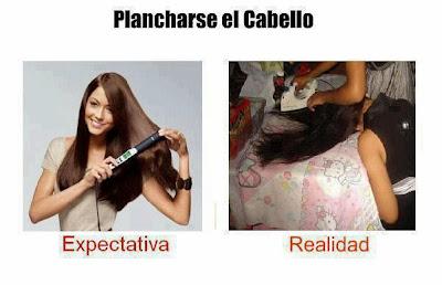 Plancharse el pelo expectativa vs realidad
