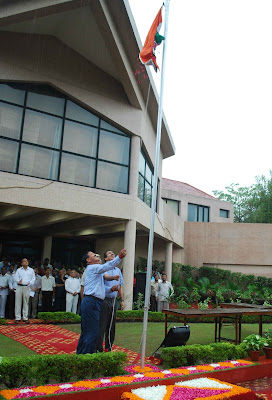 Flag Hoisting by Noida Authority Chairman Rama Raman