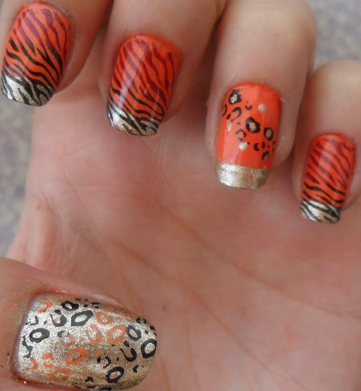 Uñas de cebra y leopardo - Imagui