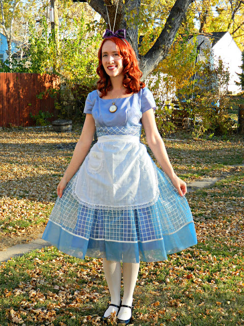 1950s Candy Jones Alice in Wonderland vintage costume dress Just Peachy, Darling