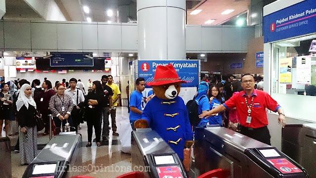 Paddington bear Malaysia KL Sentral LRT