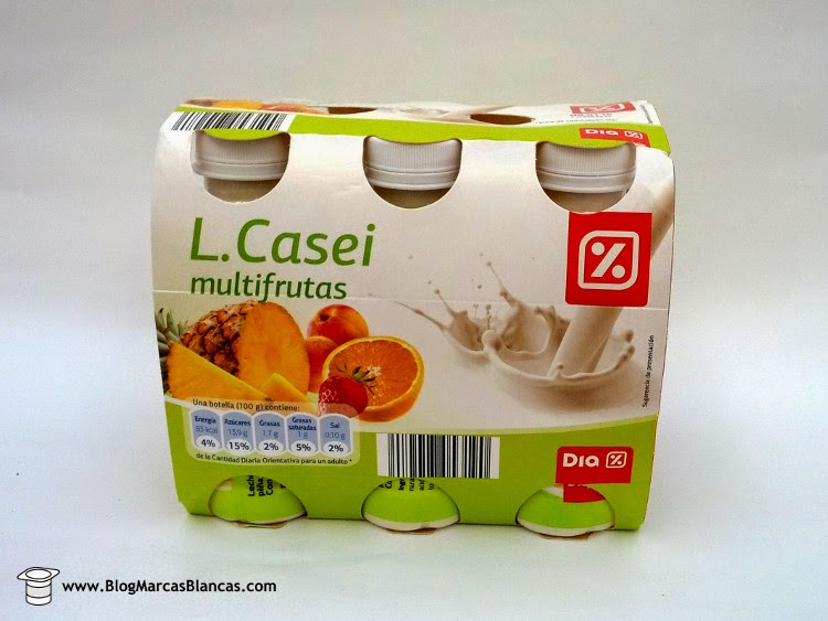 L.Casei (tipo Actimel) multifrutas DIA fabricado en Austria por Nöm.