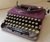 Purple Remington typewriter