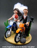 off road bikers wedding cake topper