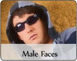 Male fashion faces