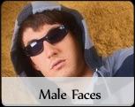 Male fashion faces