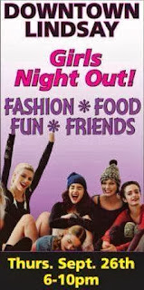 Downtown Lindsay Girls Night Out 10 am to 10pm